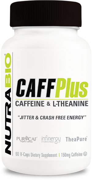 NutraBio CaffPlus - 60 Vegetable Capsules