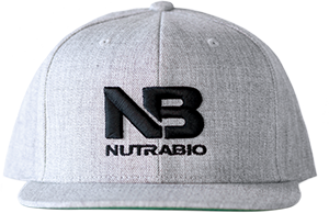 Image of NutraBio NutraBio Hat - Light Grey (Black Logo)