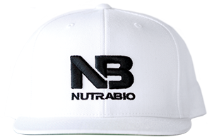 Image of NutraBio NutraBio Hat - White (Black Logo)