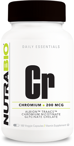 Image of NutraBio Chromium Chelate GTF (200mcg) - 120 Vegetable Capsules
