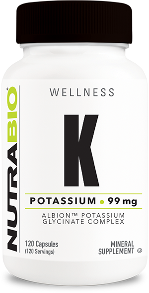 Image of NutraBio Potassium Complex 99mg - 120 Vegetable Capsules