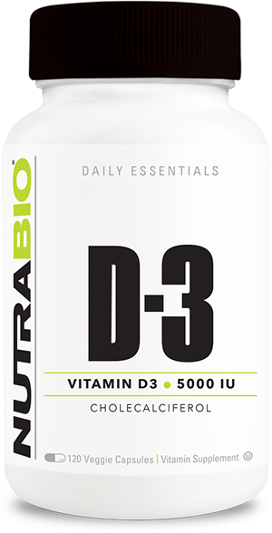 Image of NutraBio Vitamin D (5000 IU) - 120 Vegetable Capsules