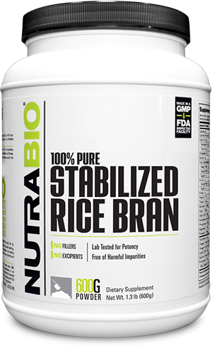 Image of NutraBio Stabilized Rice Bran - 600 Grams