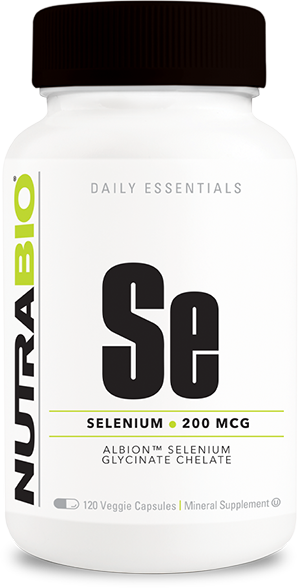 Image of NutraBio Selenium (200mcg) - 120 Vegetable Capsules
