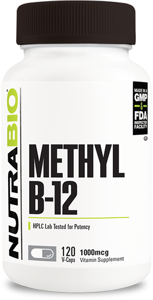 Image of NutraBio Methyl B-12 (1000mcg) - 120 Vegetable Capsules