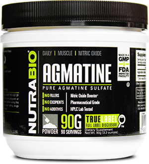 Image of NutraBio Agmatine Sulfate Powder - 90 Grams