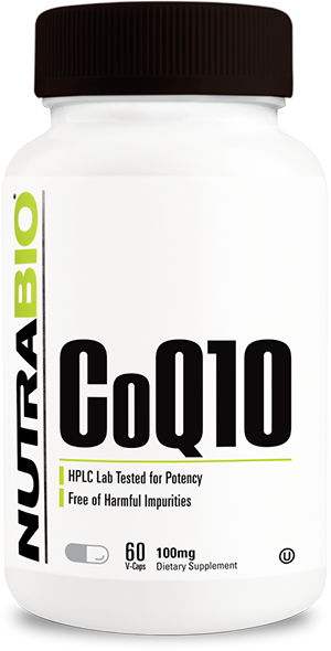 Image of NutraBio CoQ10 (100mg) - 60 Vegetable Capsules