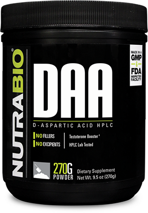 Image of NutraBio D-Aspartic Acid Powder - 270 Grams