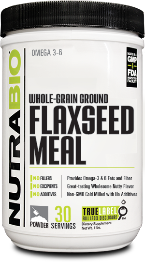 Image of NutraBio Flaxseed Meal - 1 Pound